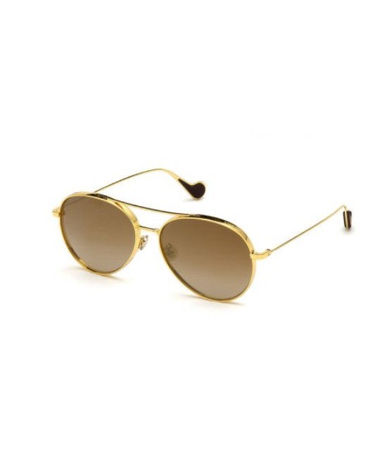 Moncler Aviator Sunglasses 57mm Gold