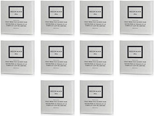 Beekman 1802 Fresh Air Goat Milk Face and Body Bar Boxed Soaps, 1.25 Ounce - Set of 10