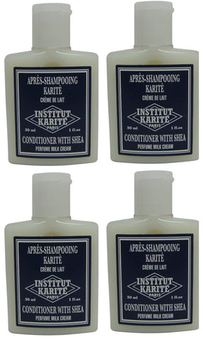 Institut Karite Shea Milk Cream Conditioner lot 4 Each 1oz bottles.Total of 4oz