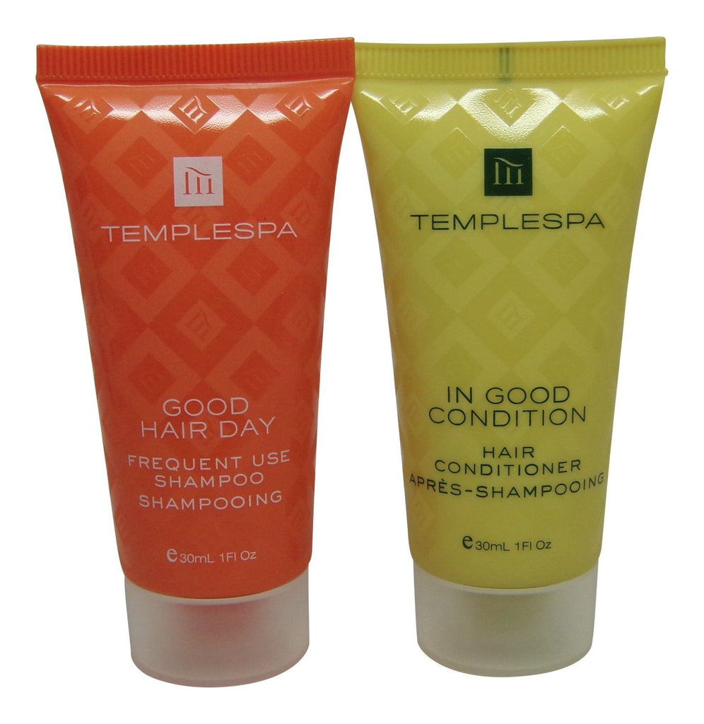 Temple Spa Conditioner and Shampoo 8 total (4 of each) 1oz tubes.