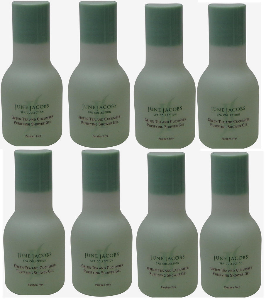 June Jacobs Green Tea Purifying Shower Gel Lot of 8 each 1.7oz. Total of 13.6oz