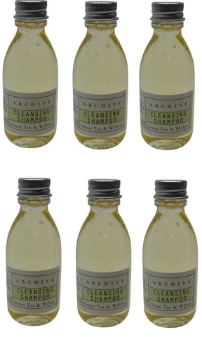 Archive Green Tea & Willow Cleansing Shampoo Lot Of 6 Each 1.5 oz Bottles
