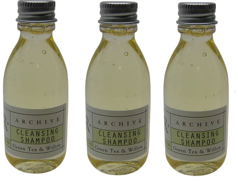 Archive Green Tea & Willow Cleansing Shampoo Lot Of 3 Each 1.5 oz Bottles