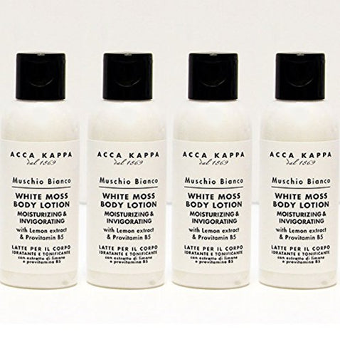 Acca Kappa White Moss Body Lotion 75 ml Travel Bottles - Set of 4