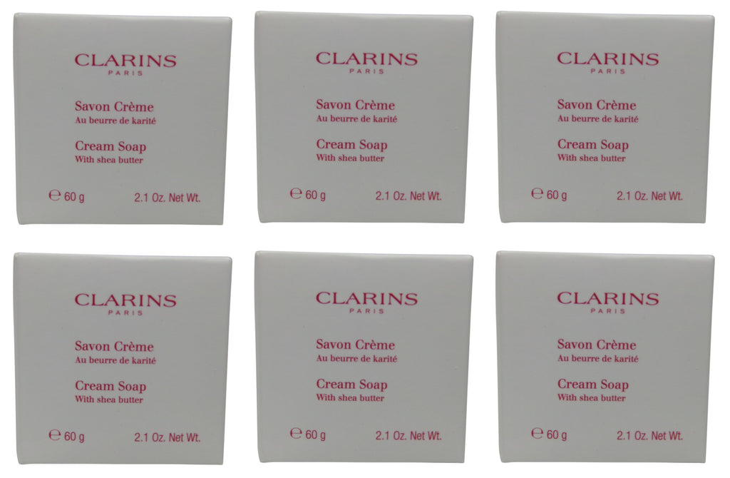 Clarins Cream Soap lot of 6 each 2oz bars Total of 12oz