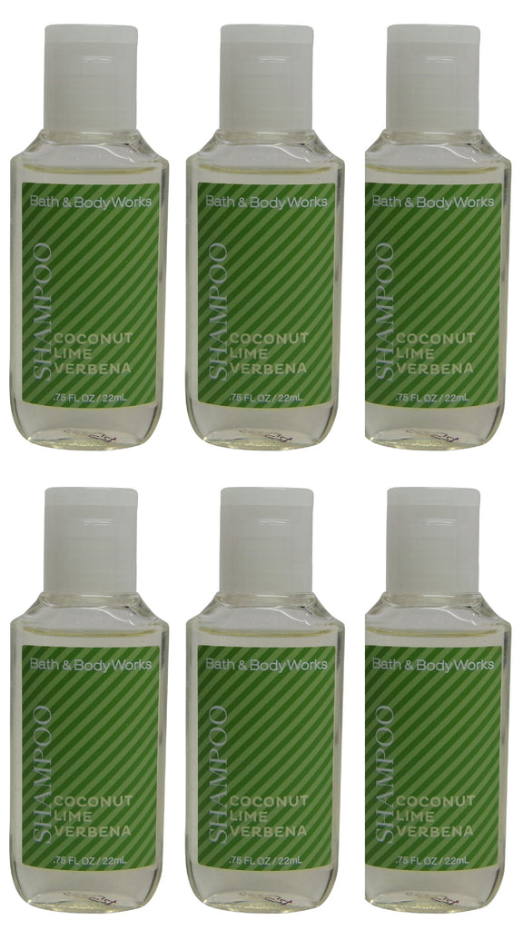 Bath and Body Works Coconut Lime Verbena Shampoo Lot of 6. Total of 4.5oz
