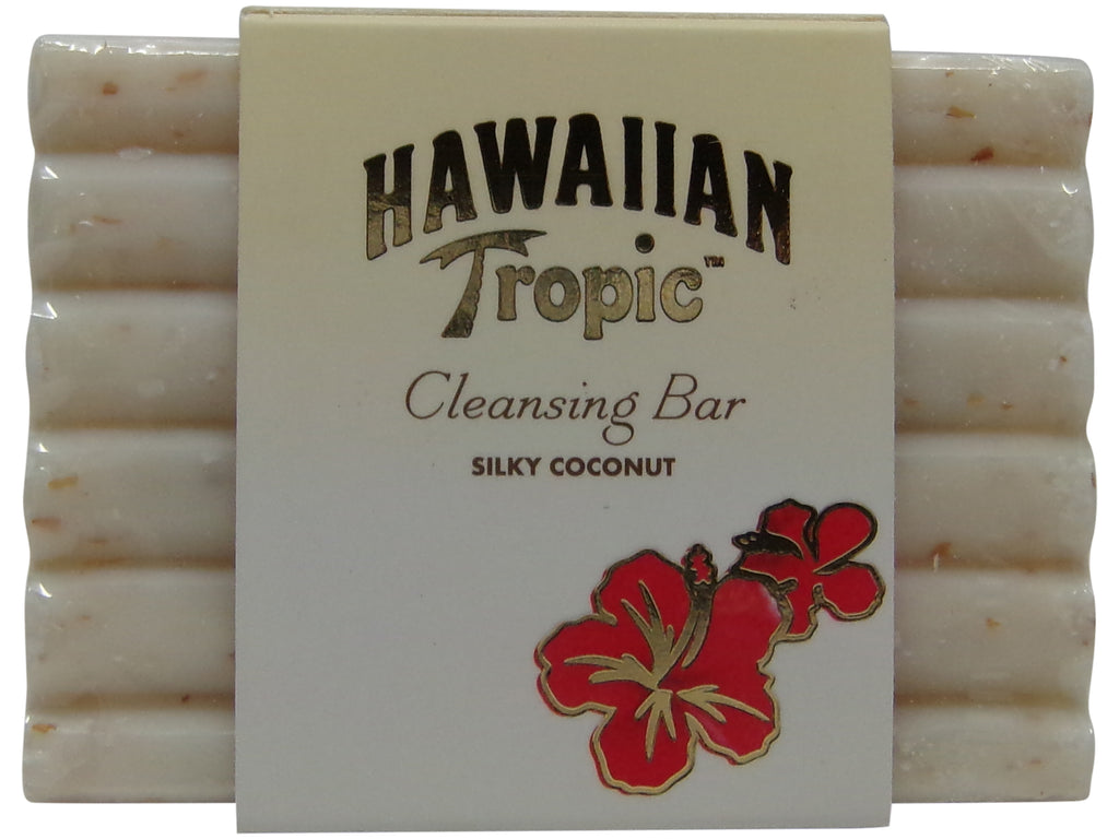 Hawaiian Tropic Silky Coconut Cleansing Massage Soap lot of 16ea 1.5oz Bars Total of 24oz