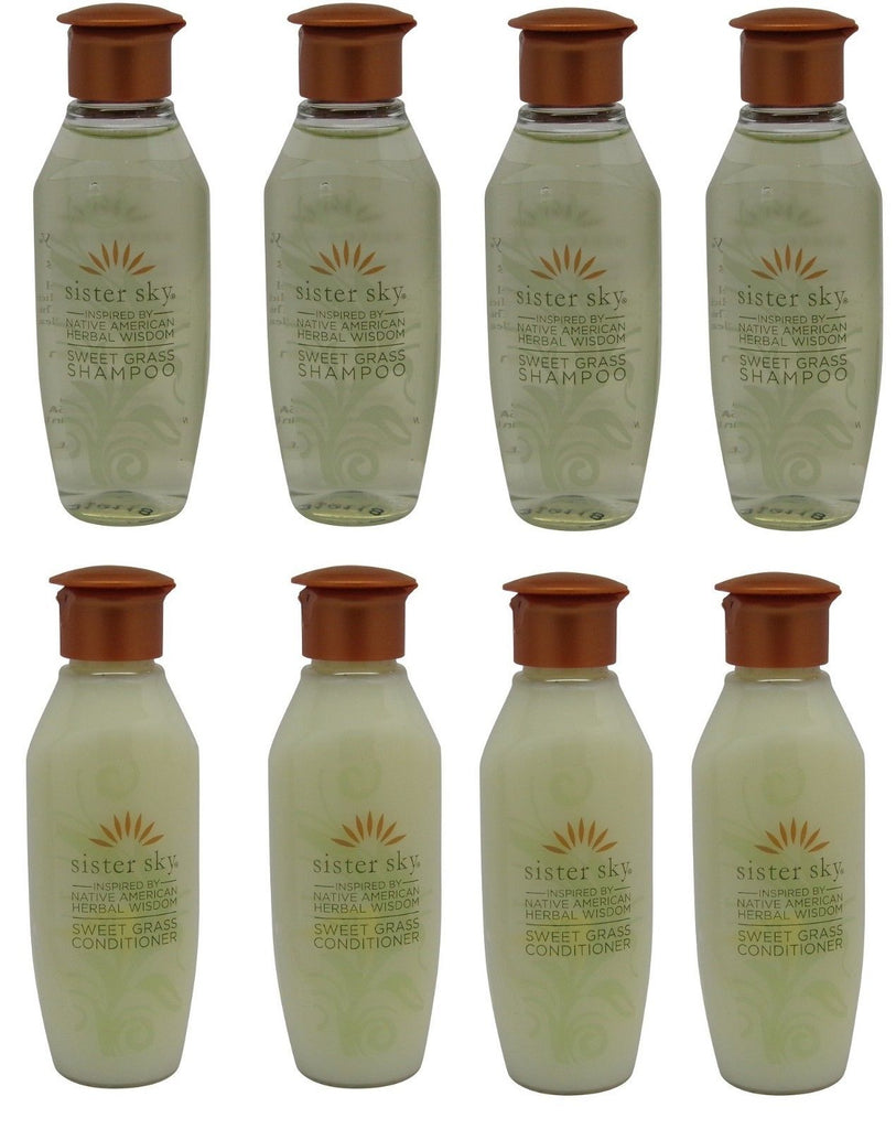 Sister Sky Sweet Grass Shampoo & Conditioner lot of 8 bottles (4 of each)