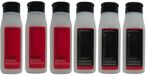 Matrix Total Results So Long Damage Shampoo & Conditioner Lot of 6 (3 of Each)