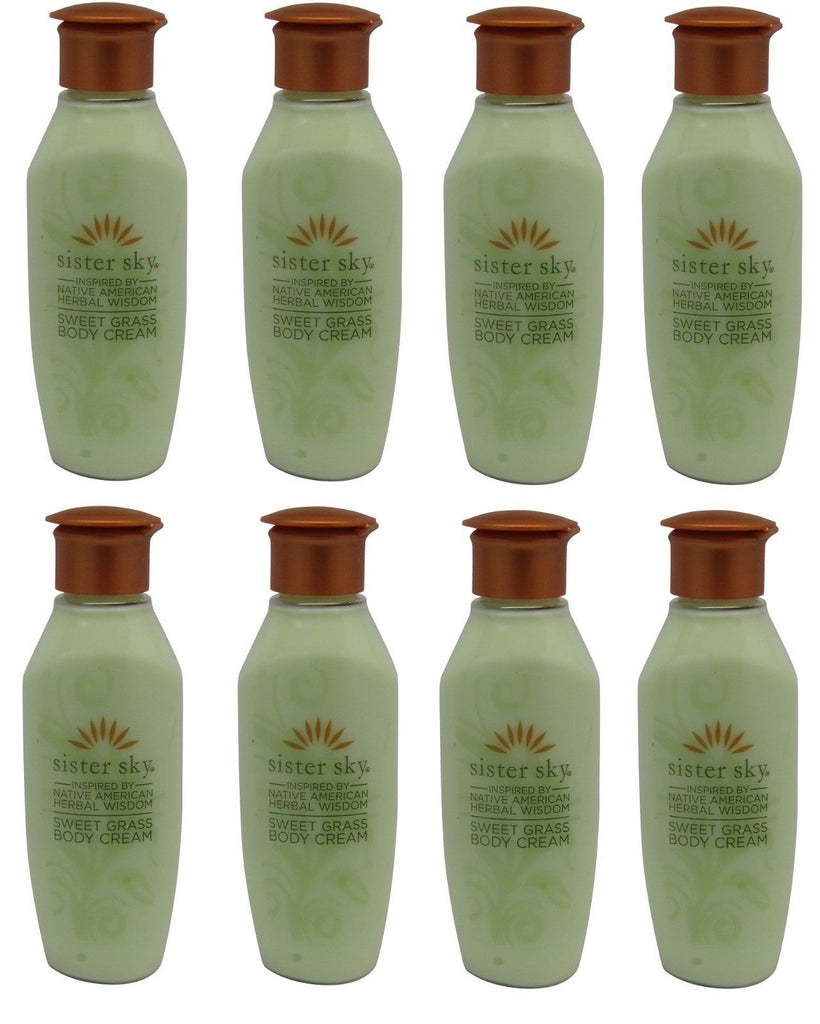 Sister Sky Sweet Grass Body Cream Lotion lot of 8 bottles. Total of 8oz