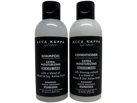 Acca Kappa White Moss Shampoo & Conditioner lot of 4 (2 of each) 2.5oz bottles