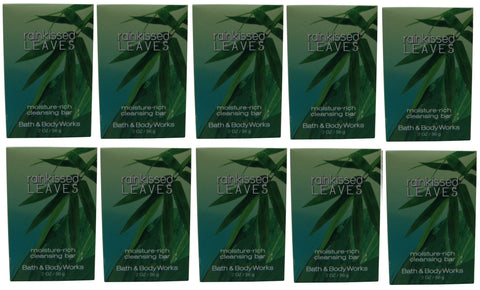 Bath & Body Works Rainkissed Leaves Soap lot of 10 each 2oz bars. Total of 20oz