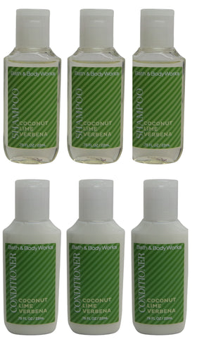 Bath & Body Works Coconut Lime Verbena Shampoo & Conditioner 3 of each