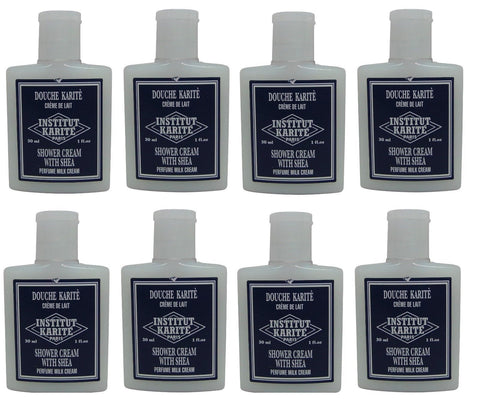 Institut Karite Shea Shower Cream lot 8 Each 1oz bottles. Total of 8oz