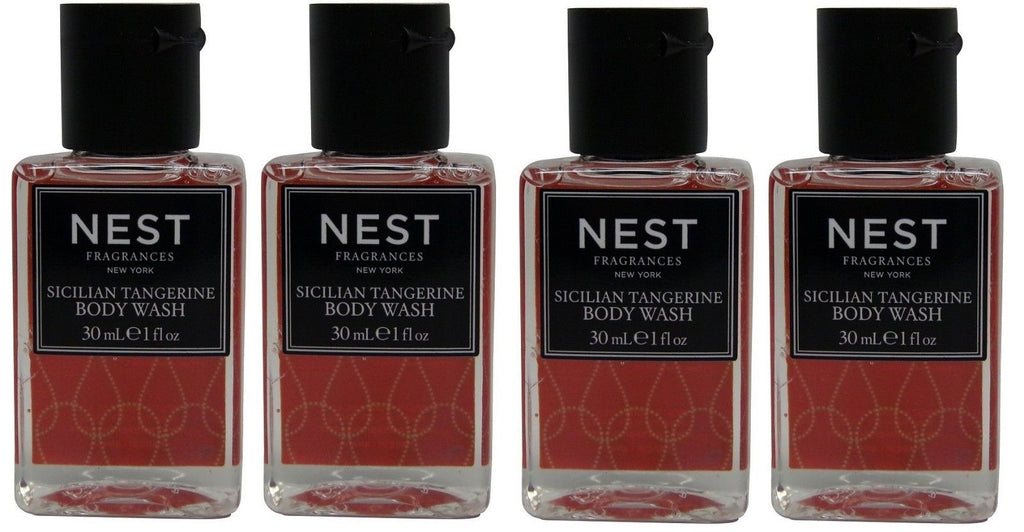 Nest Fragrances Sicilian Tangerine Body Wash lot of 4 Total of 4oz