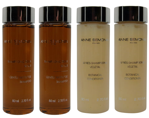 Anne Semonin Shampoo & Conditioner lot of 4 (2 each 3.4oz Bottles)