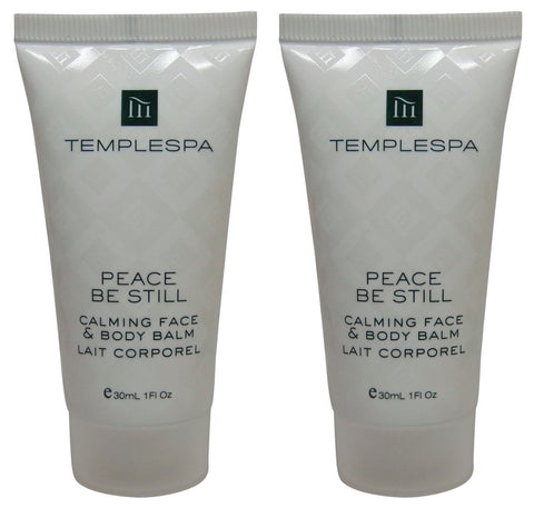 Temple Spa Peace Be Still Calming Face Body Balm Lotion 2 each 1oz tubes