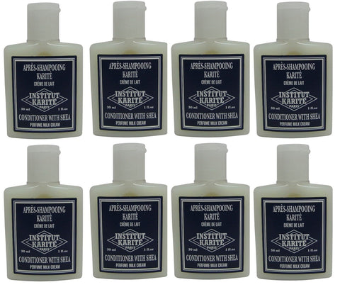 Institut Karite Shea Milk Cream Conditioner lot 8 Each 1oz bottles.Total of 8oz