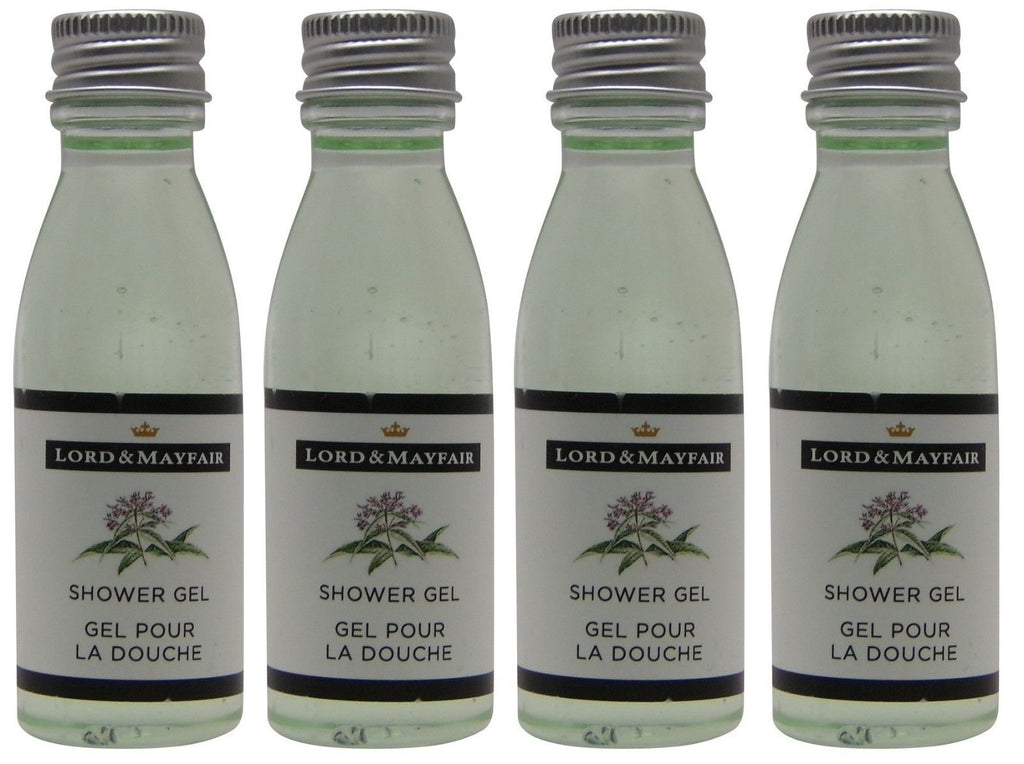 Lord and Mayfair Apple & Wicker Shower Gel Lot of 4 Each 1oz Bottles.