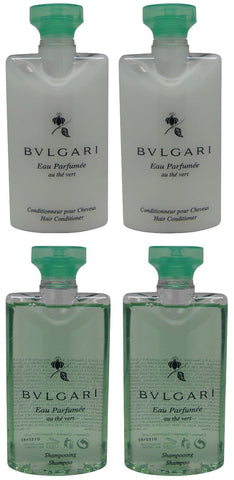 Bvlgari au the vert Green Tea Shampoo & Conditioner lot of 4 (2 of each)