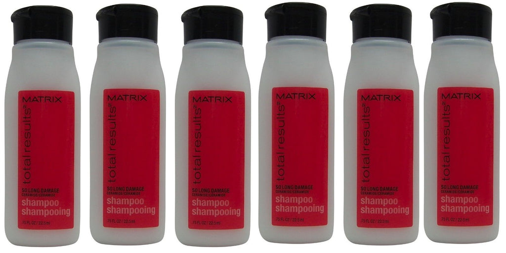 Matrix Total Results So Long Damage Shampoo Lot of 6 Each 0.75oz Bottles