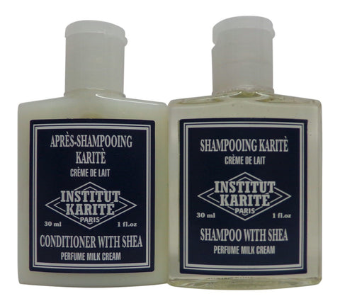 Institut Karite Shea Milk Cream Shampoo & Conditioner lot 4 (2 of each) 1oz ea