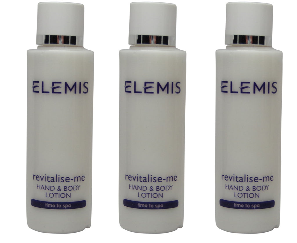 Elemis Revitalize Me Hand & Body Lotion lot of 3 Bottles each 1.7oz. Total of 5.1oz