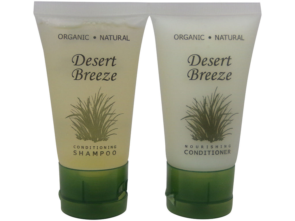 Desert Breeze Conditioner and Shampoo Lot of 4 (2 of each) 1oz Bottles