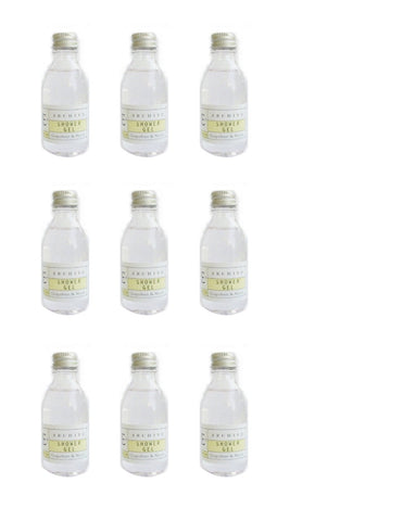 Archive Essentials Grapefruit & Neroli Shower Gel 45ml, Set of 9