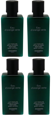 Hermes Eau d'Orange Verte 5.4oz (Four 1.35 Ounce Bottles) Body Lotion
