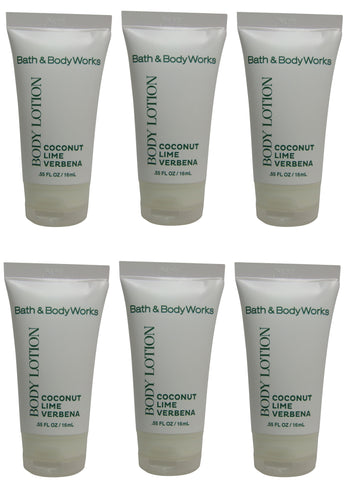 Bath & Body Works Coconut Lime Verbena Lotion lot of 6 Bottles. Total of 3.3oz