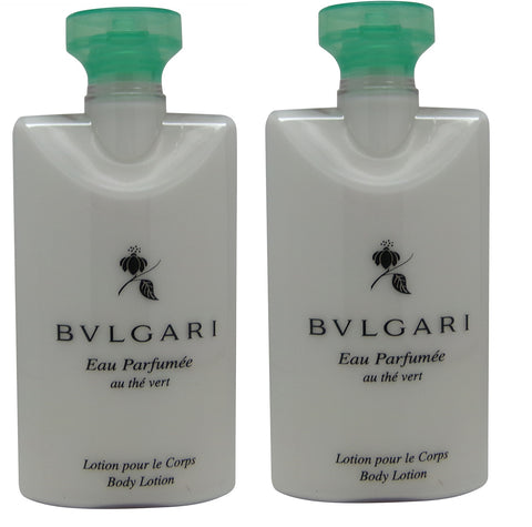 Bvlgari au the vert Green Tea Body Lotion lot of 2 each 2.5oz Total of 5oz