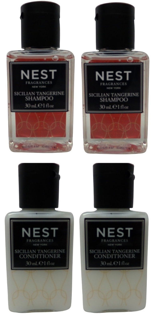 Nest Fragrances Sicilian Tangerine Shampoo & Conditioner lot of 4 (2 of each)