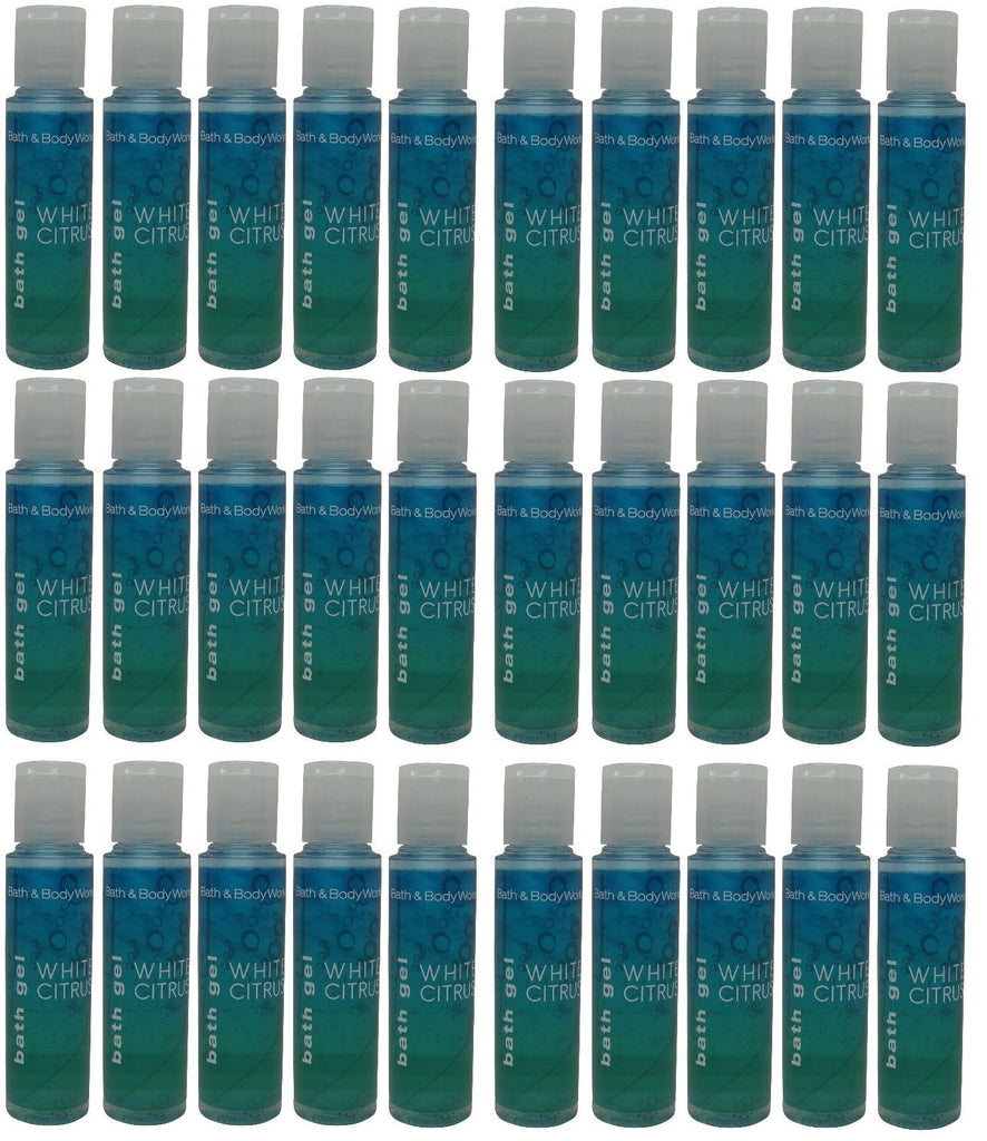 Bath and Body Works White Citrus Gel Lot of 30 Total of 22.5oz at Holiday Express