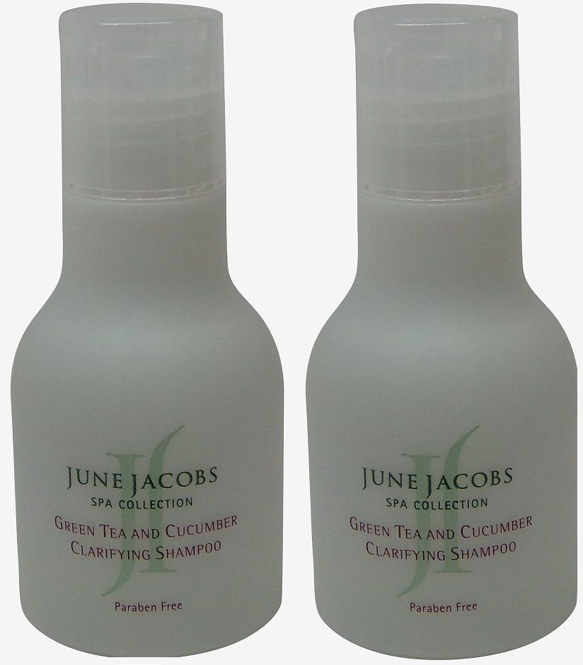June Jacobs Green Tea Clarifying Shampoo Lot of 2 each 1.7oz.
