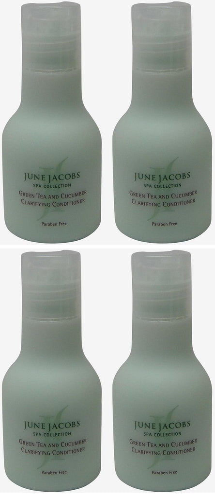 June Jacobs Green Tea and Cucumber Clarifying Conditioner Lot of 4 each 1.7oz