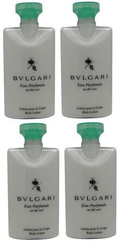 Bvlgari au the vert Green Tea Body Lotion lot of 4 each 2.5oz Total of 10oz