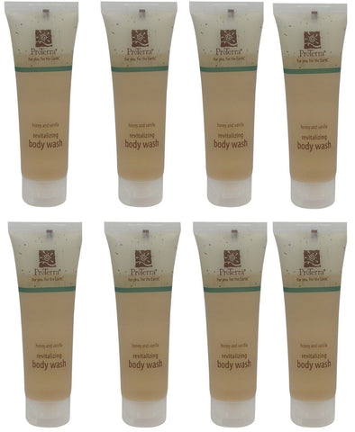 Proterra Honey & Vanilla Revitalizing Body Wash Lot of 8 Each Total of 8oz