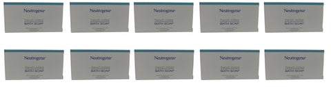Neutrogena French Milled Bath Soap Lot of 10 each 1.25 oz Bars. Total of  12.5oz
