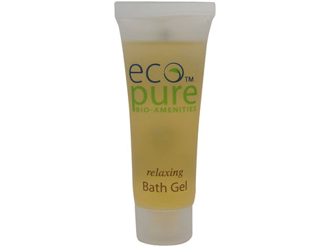 Eco Pure Relaxing Bath Gel Lot of 4 each 1oz Bottles. Total of 4oz