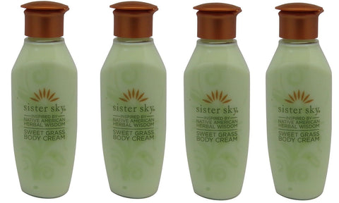 Sister Sky Sweet Grass Body Cream Lotion lot of 4 bottles. Total of 4oz