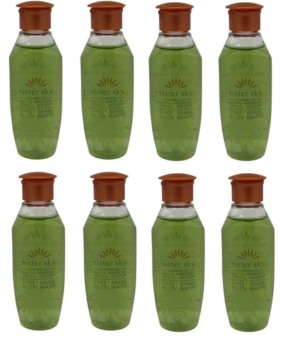 Sister Sky Sweet Grass Body Wash lot of 8 bottles. Total of 8oz