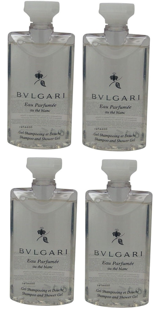 Bvlgari White Tea au the blanc Shampoo & Shower Gel lot of 4 each Total of 10oz