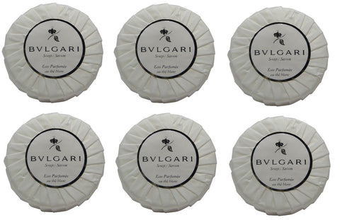 Bvlgari au the blanc lot of 6 each 1.76oz bars of Soap Total of 10.56oz