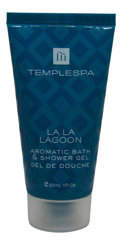 Temple Spa La La Lagoon Aromatic Bath & Shower Gel 4 each 1oz tubes. Total 4oz