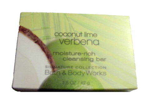 Bath & Body Works Coconut Lime Verbena Moisture Rich Cleansing Soap. Lot of 12 Bars. Total of 18oz