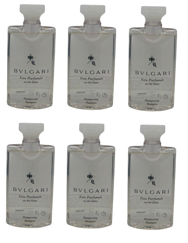Bvlgari au the blanc Shampoo lot of 6 each 2.5oz Total of 15oz