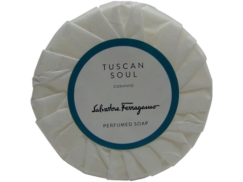 Salvatore Ferragamo Tuscan Soul Convivio Soap lot of 2 each 1.76oz Bars. Total of 3.5oz