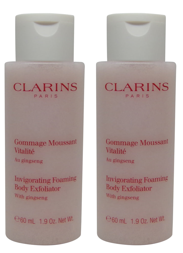 Clarins Invigorating Foaming Body Exfoliator lot of 2 each 2oz Total of 4oz