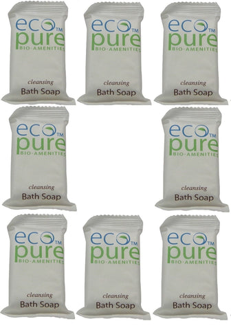 Eco Pure cleansing Bath Soap Lot of 8 each 1oz Bars. Total of 8oz